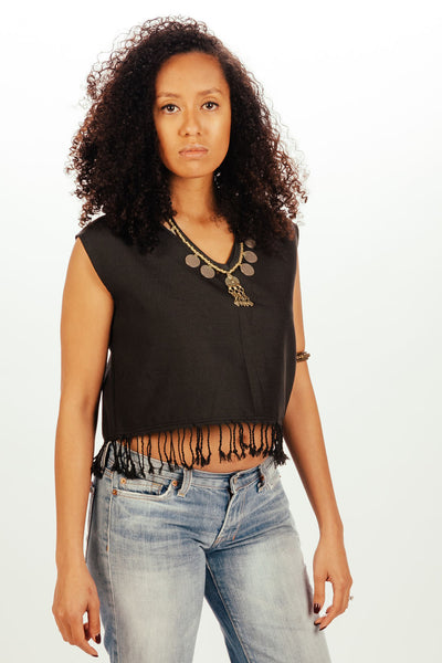 Loei Fringe Crop Top
