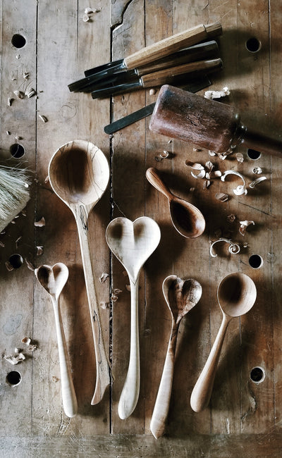 Hand Carved Heart Spoons