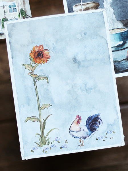 Little Wren Design Co, Loran Polder, Rooster Painting