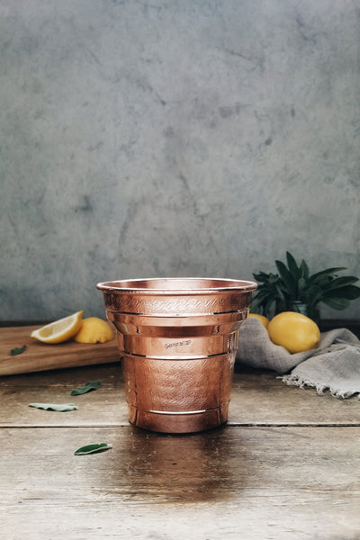 Vintage Copper Planter / Holder | c. 1950