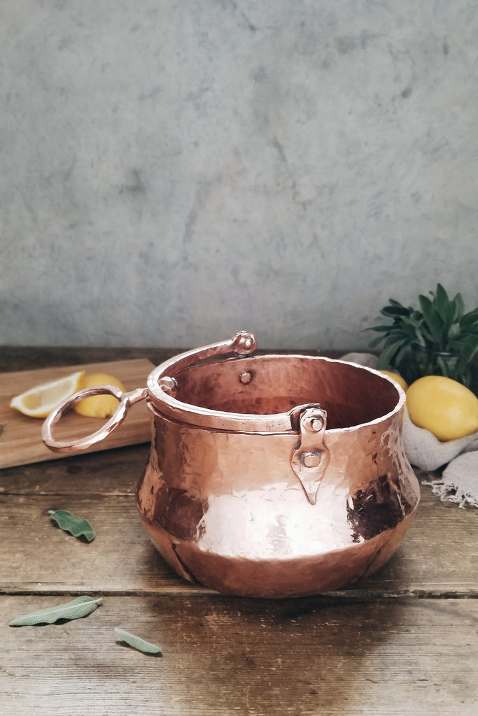 Vintage Copper Cauldron | c. 1800