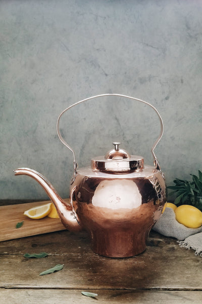 Vintage Copper Large Tea Kettle | c. 1880