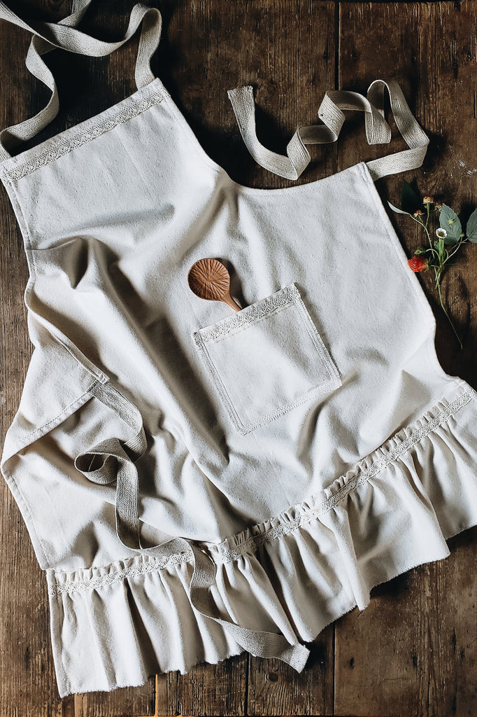 *NEW* 100% Organic Cotton Ruffled Apron