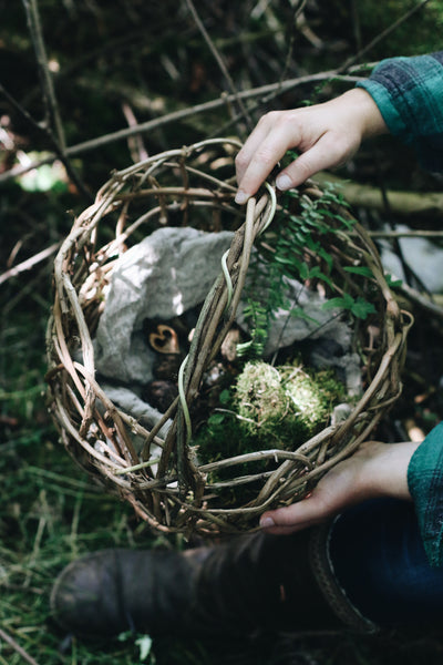 One-of-a-Kind Wildcrafted Large Basket