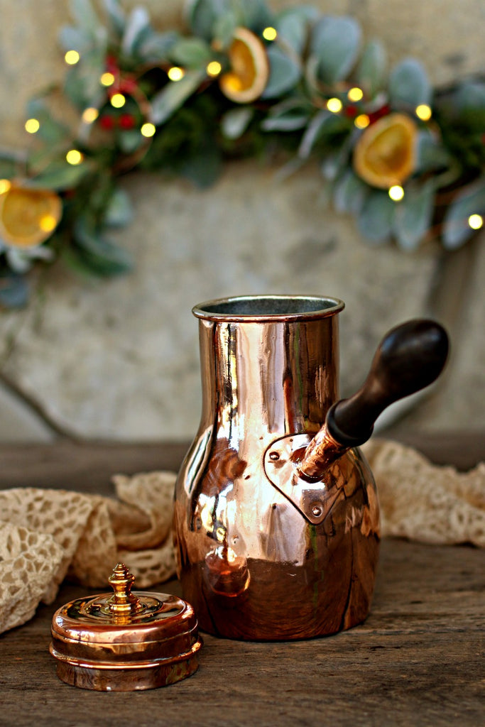 Vintage Copper Chocolate Pot | c. 1880
