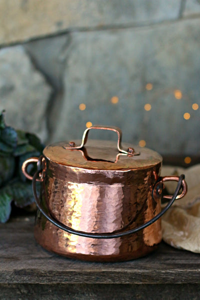 Vintage Copper Medium Marmite Stockpot | c. 1800