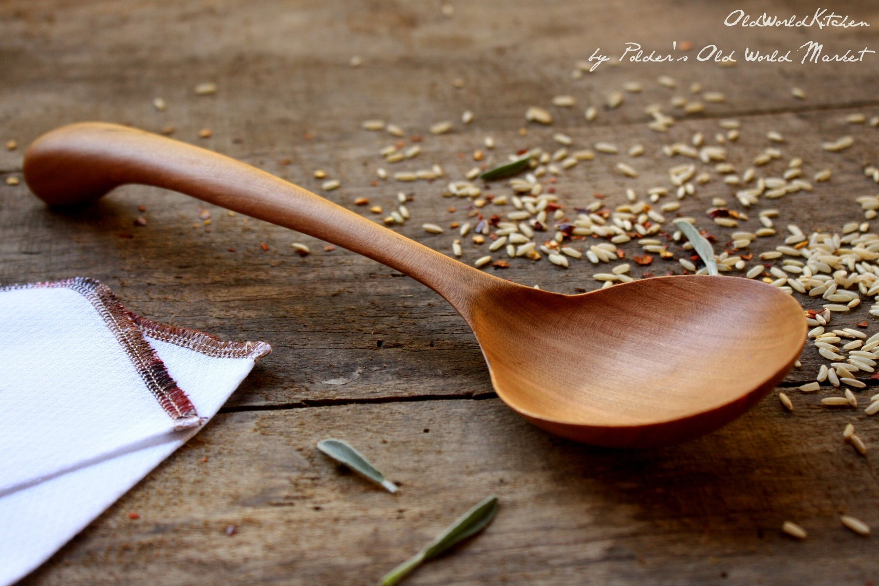 Hickory Serving Spoon