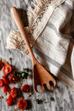 Hand Carved Wooden Pasta Spoon