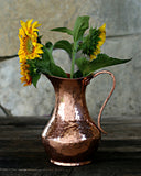 Vintage Copper Hammered Pitcher | c. 1880
