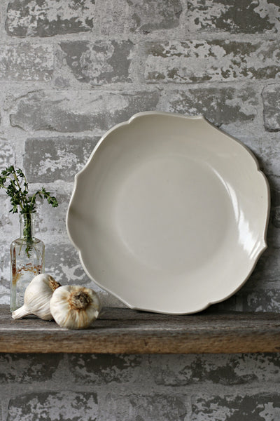 Scalloped Porcelain Ceramic Platter