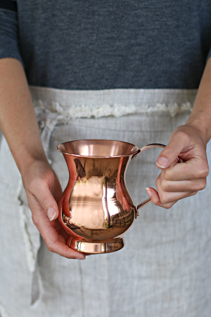 Vintage Copper French Pitchers (set of 4) | c. 1920