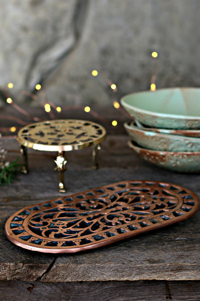 Vintage Copper & Brass Trivets c. 1880