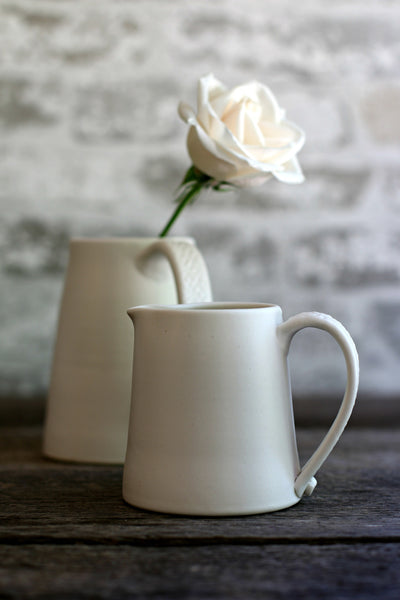 Small White Porcelain Ceramic Pitchers