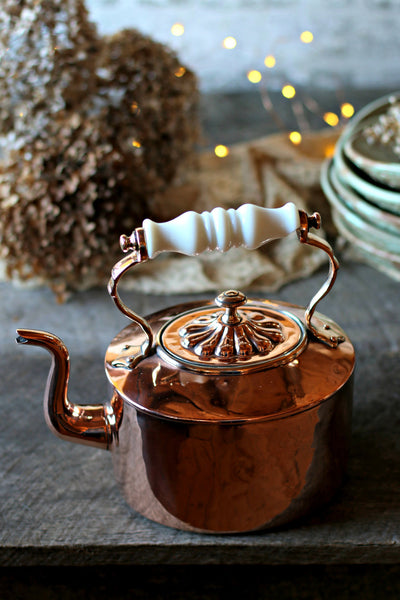 Vintage Copper Tea Pot c. 1850