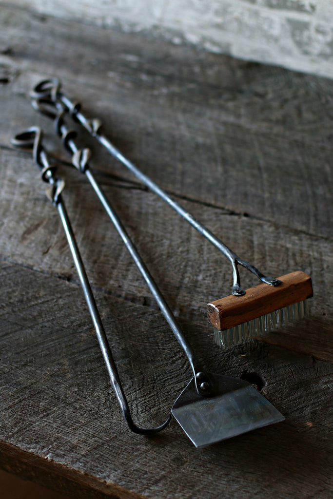 Hand Forged Grill Tool Set