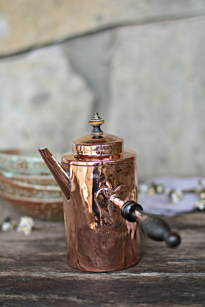 Vintage Copper Scandinavian Coffee Pot | c. 1850