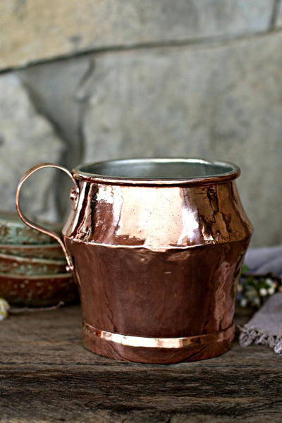 Vintage Copper Large English Jug | c. 1850