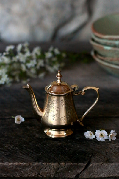 Vintage Brass Mini Coffee Pot | c. 1880