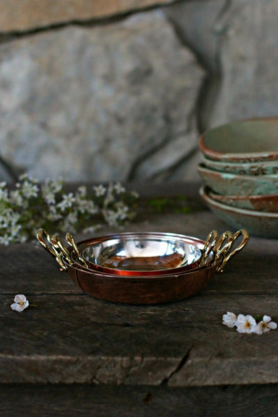 Vintage Copper Gratin Dishes (set of 3)