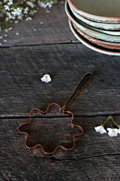 Vintage Copper Pancake Cutter