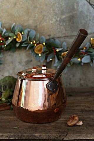Vintage Copper Pot Bellied Stock Pot c. 1850