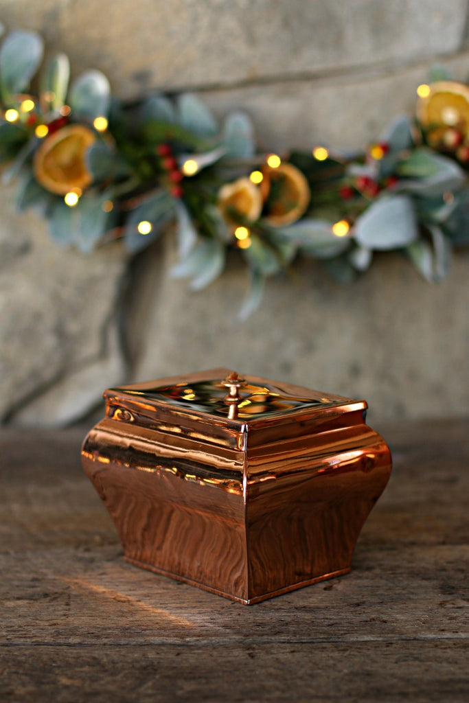 Vintage Copper English Tea Caddy | c. 1850