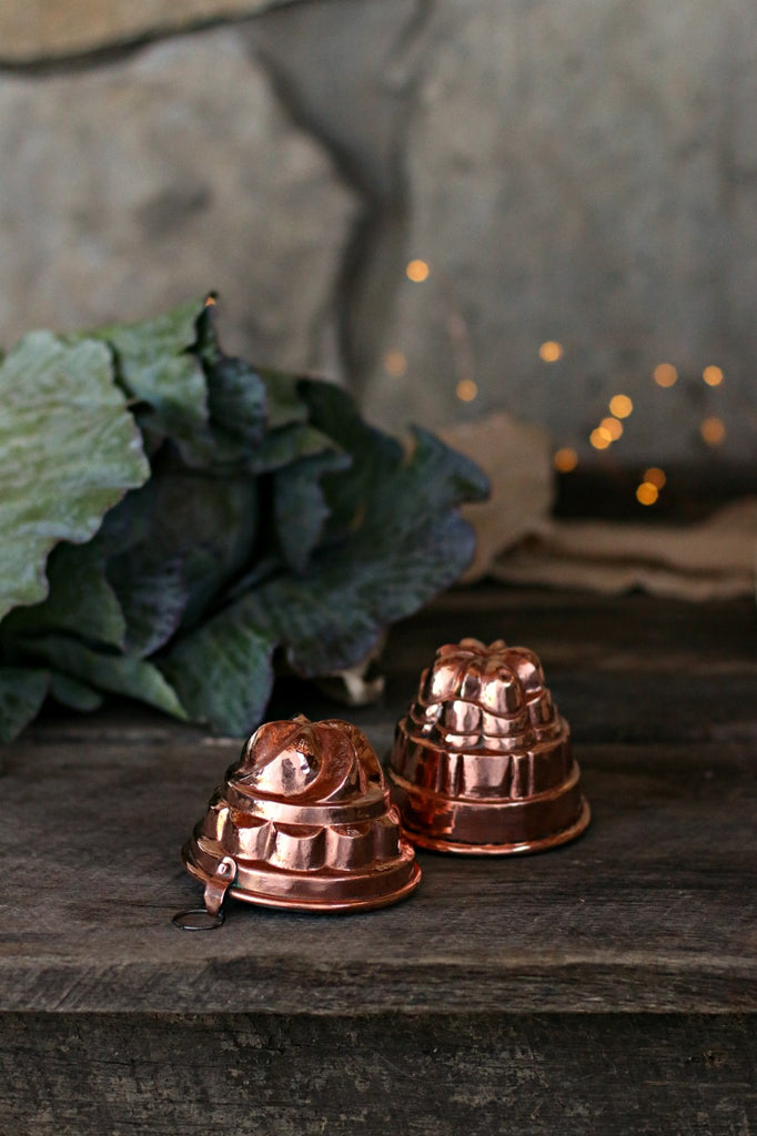 Vintage Copper Small French Moulds | c. 1880