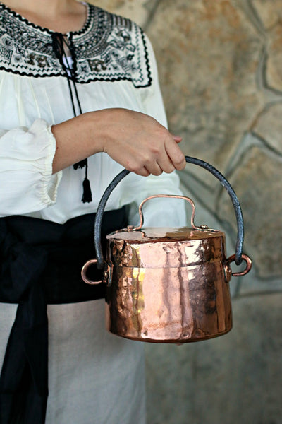 Vintage Copper French Marmite Stockpot | c. 1800