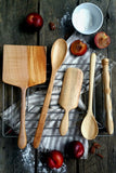 Ultimate Baker's Package, Handmade Wooden Spoons, Spurtles & Spatula in Maple
