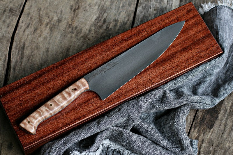 Handcrafted Artisan Chef's Knife in Presentation Case
