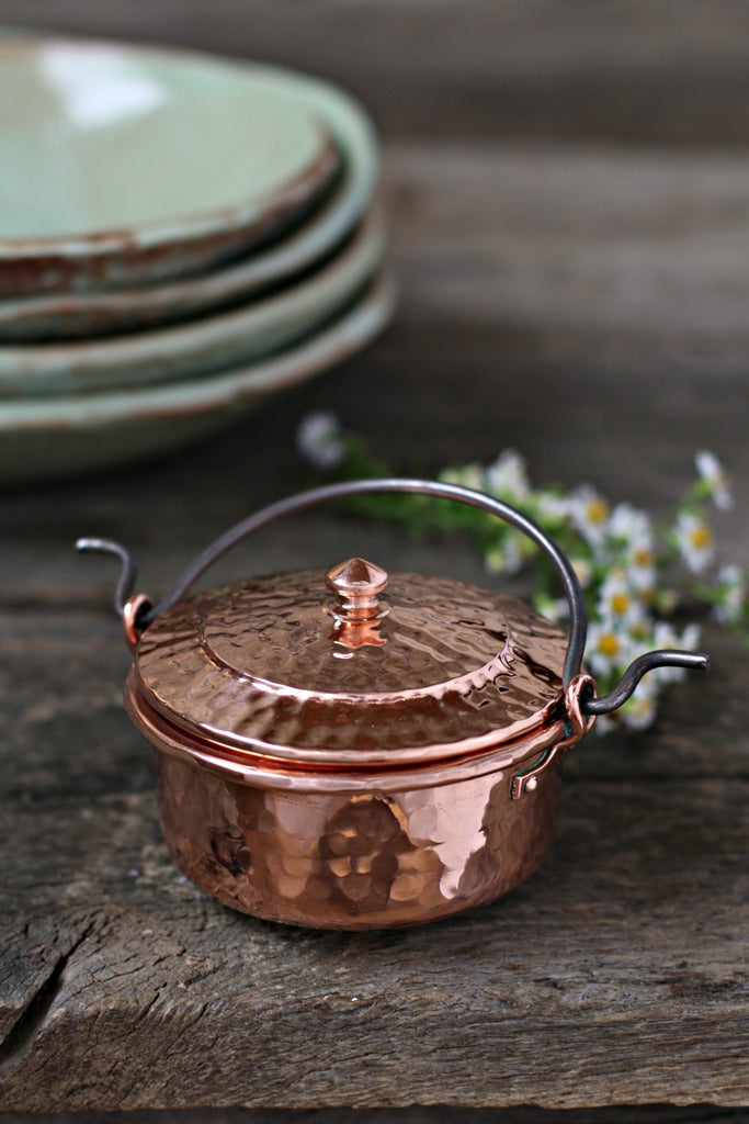 Vintage Copper Salt Cellar c. 1880