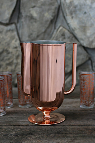Vintage Copper Water Pitcher c. 1880