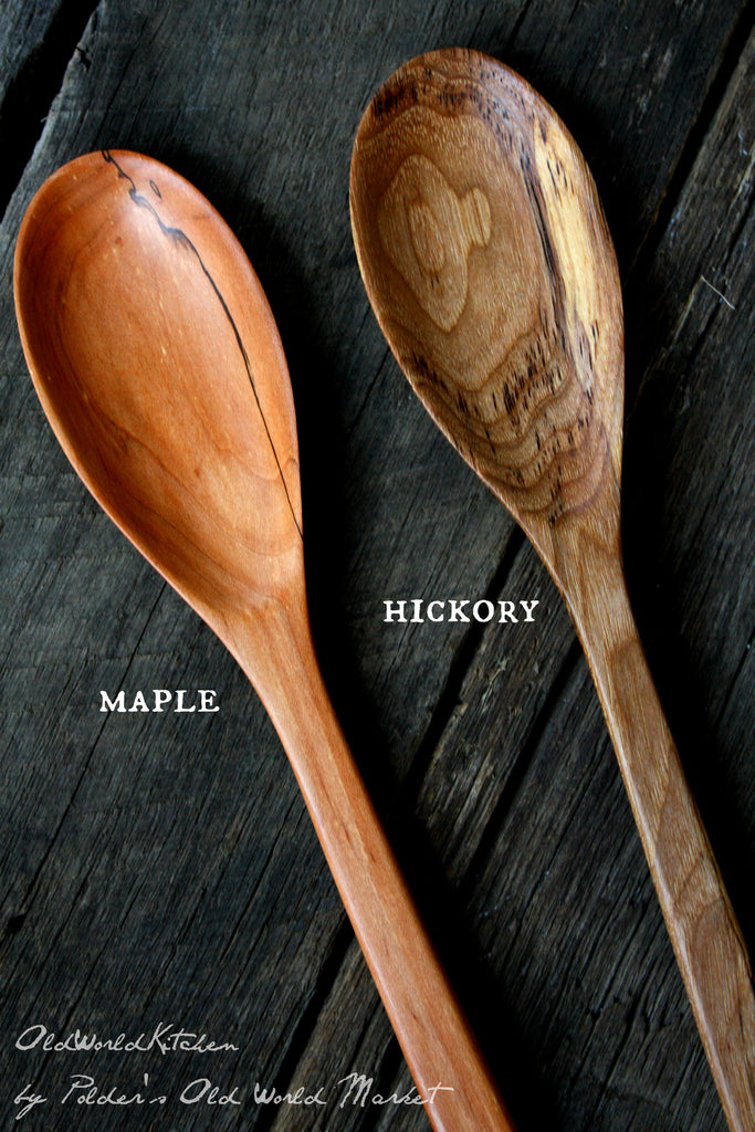 Extra Long Wooden Spoon Wood Options Maple and Hickory