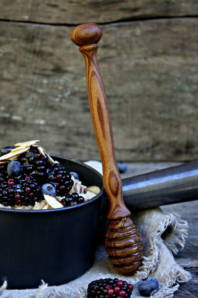 Elegant Wooden Honey Dipper