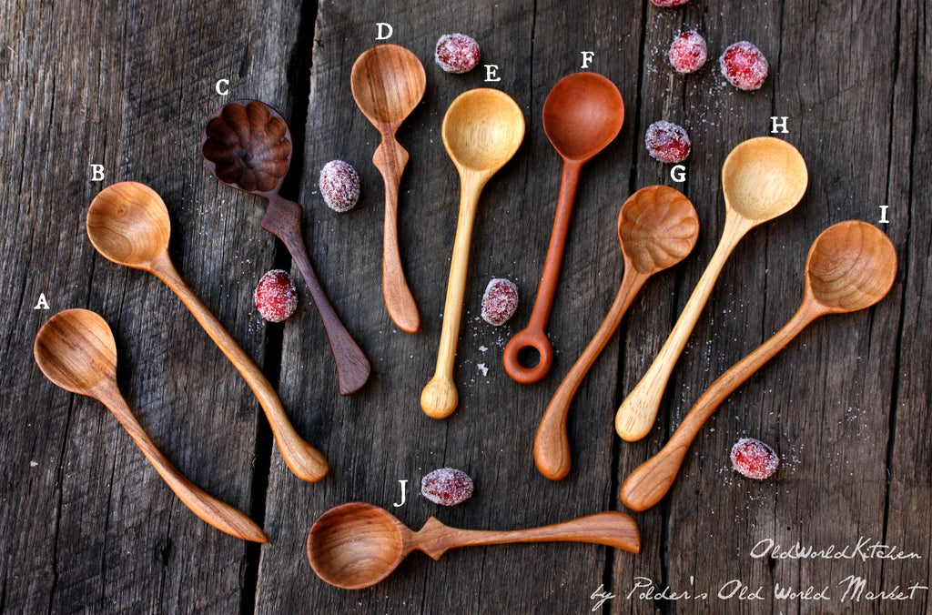 miniature wooden spoon styles and wood options