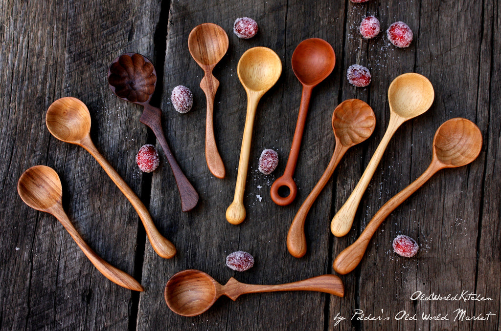 small wooden spoon collection