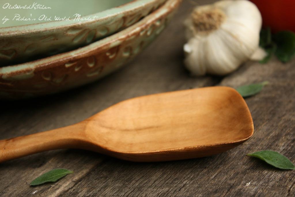 Maple Roux Spoon, Wood Serving Spoon, Wooden Sauce Spoon
