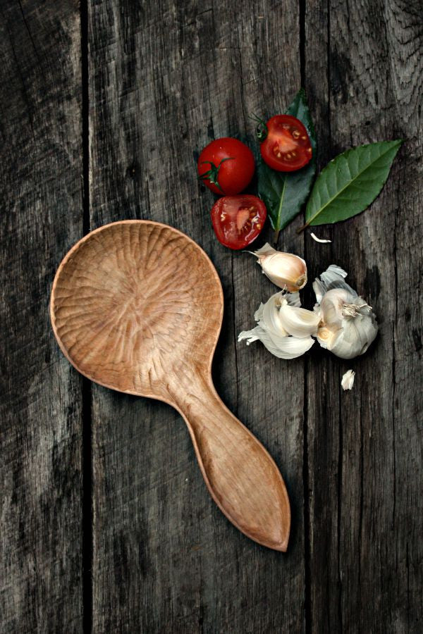 Hand Carved Maple Wood Spoon Rest