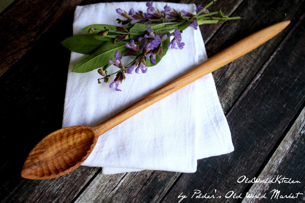 Long Hickory Stirring Spoon
