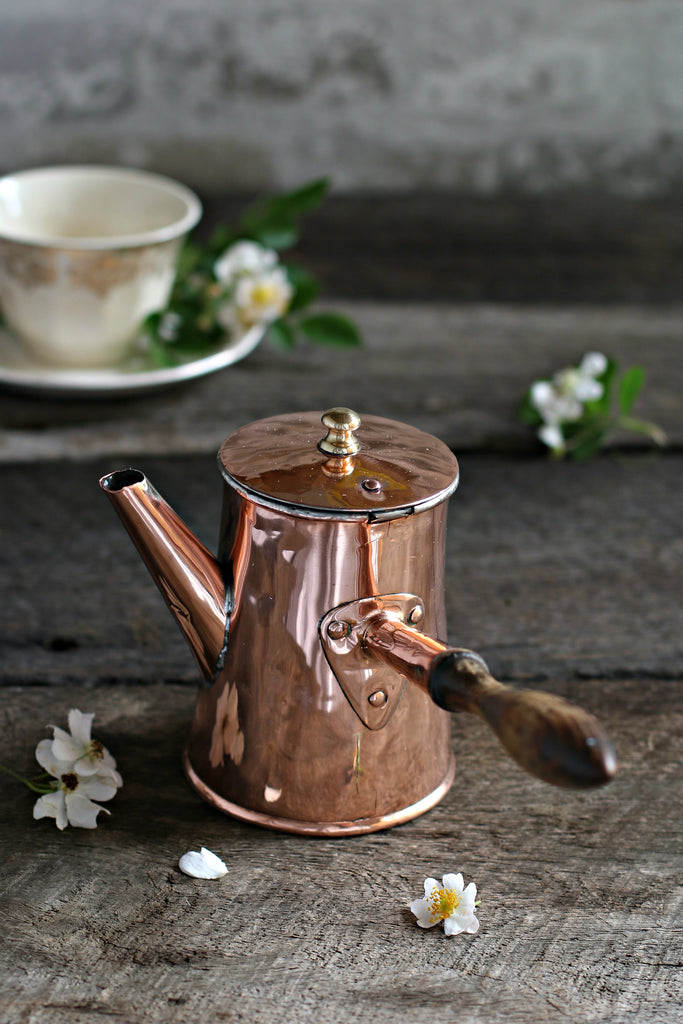 Vintage Copper Chocolate Pot c. 1780