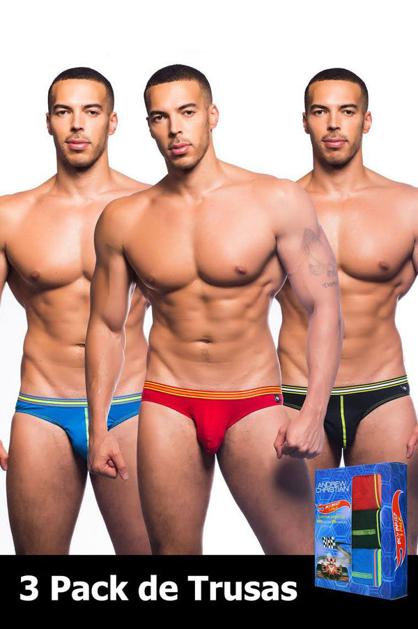 Andrew Christian - 3-Pack Trusas Hot Rod