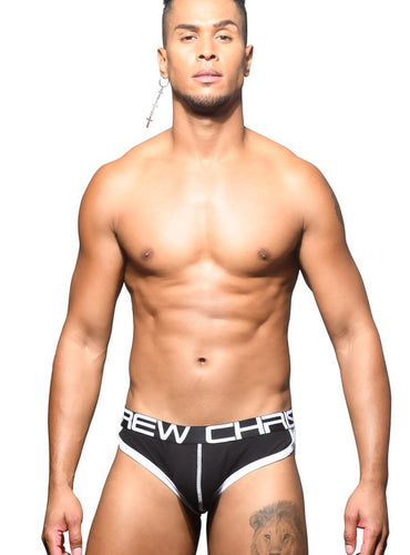Trusa Negra Retro Pop con Show It - Ropa Interior de Hombre - Andrew Christian