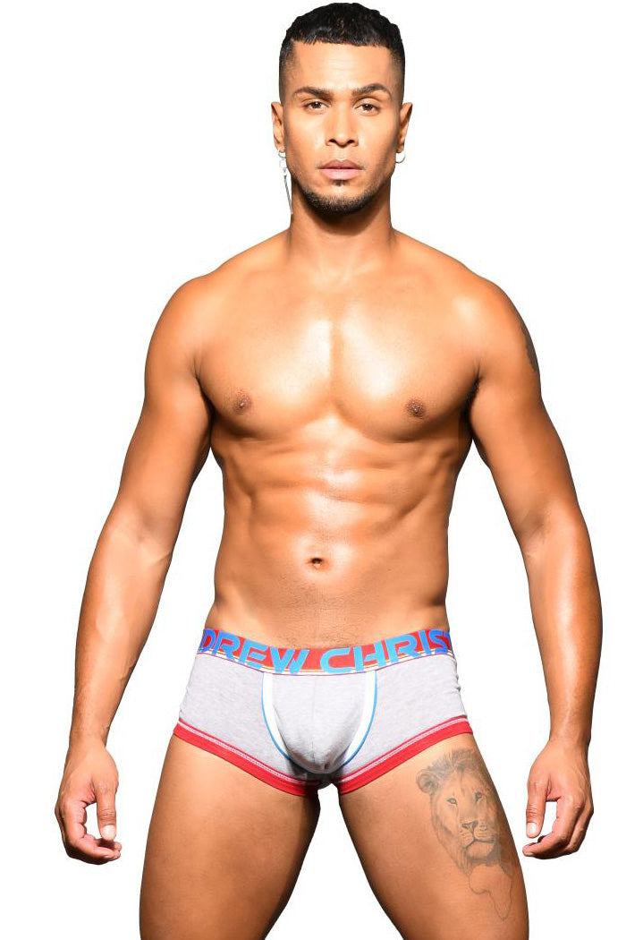 Bóxer CoolFlex con Show It Gris - Ropa Interior Andrew Christian