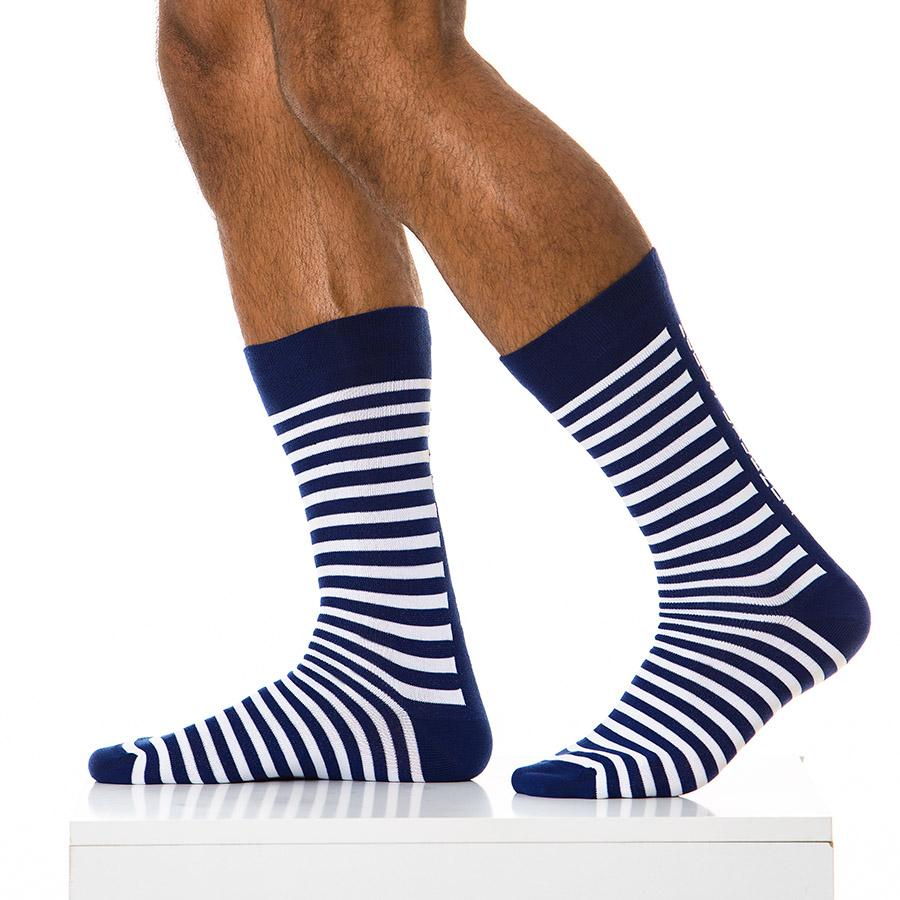 Calcetines Para Hombres - Calcetines A Rayas Azules (PREVENTA
