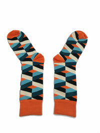 Calcetines Para Hombres - Undercover - Calcetines Rombos Naranja