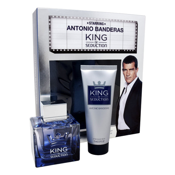 Locion, Hombre - Antonio Banderas - Set King Of Seduction 2PZS (EDT Spray 100ml + After Shave 75ml)