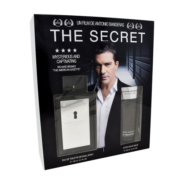 Locion, Hombre - Antonio Banderas - Set The Secret 2 PZS (EDT Spray 100ml + After Shave 100ml)