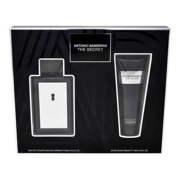 Locion, Hombre - Antonio Banderas - Set The Secret 2 PZS (EDT Spray 100ml + After Shave 75ml)