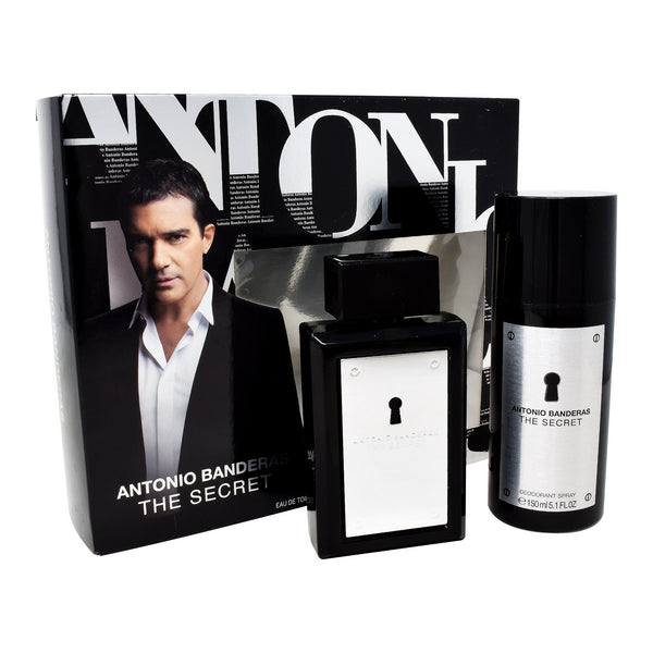 Locion, Hombre - Antonio Banderas - Set The Secret 2 PZS (EDT Spray 100ml + DEO 100ml)