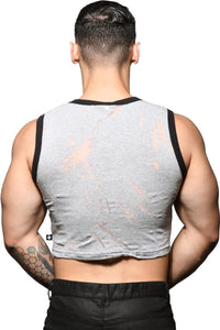 Playeras Para Hombres - Playera Blast Burnout Crop Gym Tank (PREVENTA